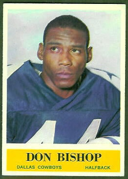 Don Bishop 1964 Philadelphia football card