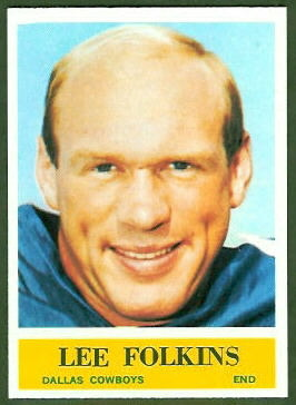 Lee Folkins 1964 Philadelphia football card