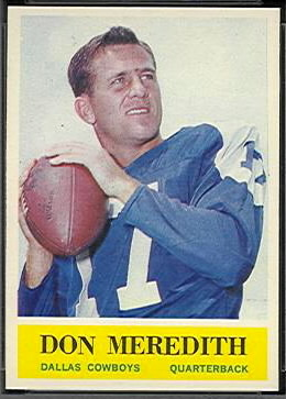Don Meredith 1964 Philadelphia football card