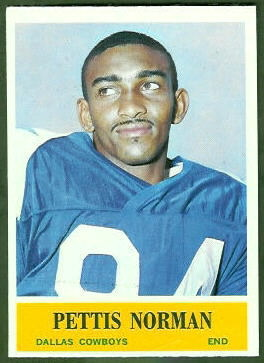 Pettis Norman 1964 Philadelphia football card