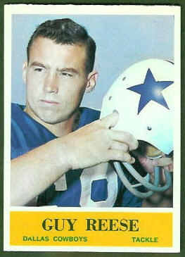 Guy Reese 1964 Philadelphia football card