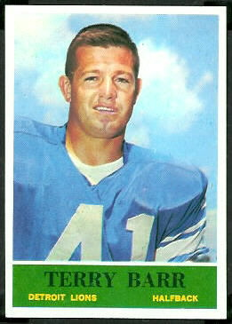 Terry Barr 1964 Philadelphia football card
