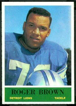 Roger Brown 1964 Philadelphia football card
