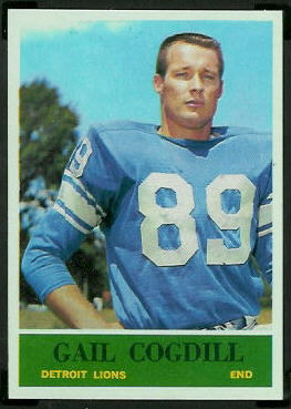 Gail Cogdill 1964 Philadelphia football card