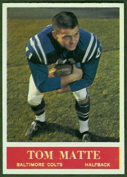 Tom Matte 1964 Philadelphia football card
