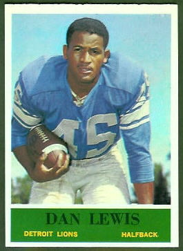 Dan Lewis 1964 Philadelphia football card