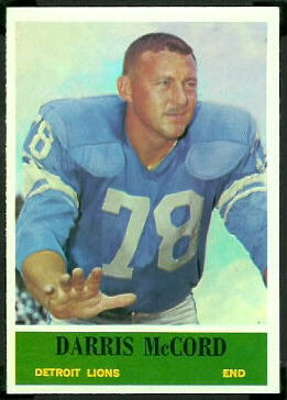 Darris McCord 1964 Philadelphia football card