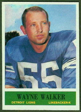 Wayne Walker 1964 Philadelphia football card