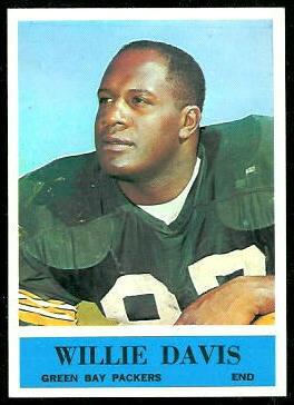 Willie Davis 1964 Philadelphia football card