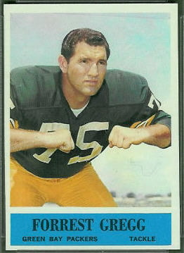 Forrest Gregg 1964 Philadelphia football card