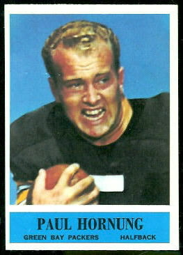 Paul Hornung 1964 Philadelphia football card