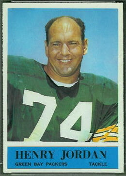 Henry Jordan 1964 Philadelphia football card