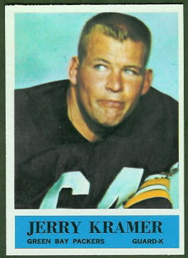 Jerry Kramer 1964 Philadelphia football card