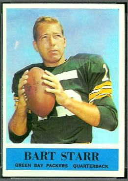 Bart Starr 1964 Philadelphia football card