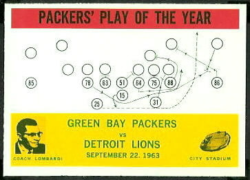 Packers Play of the Year 1964 Philadelphia football card