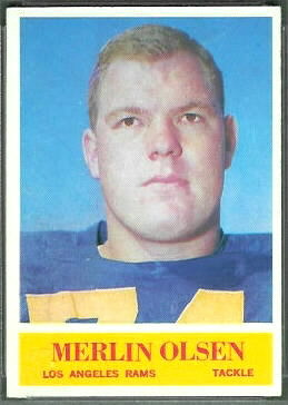 Merlin Olsen 1964 Philadelphia football card