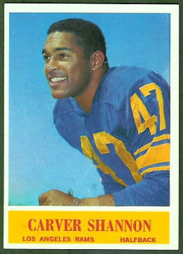 Carver Shannon 1964 Philadelphia football card