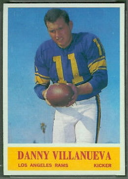 Danny Villanueva 1964 Philadelphia football card