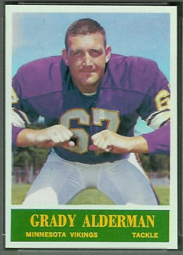 Grady Alderman 1964 Philadelphia football card