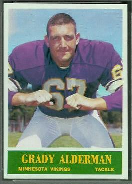 Grady Alderman 1964 Philadelphia football card