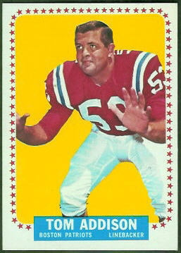 Tommy Addison 1964 Topps football card