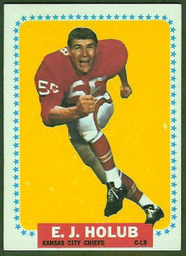 E.J. Holub 1964 Topps football card
