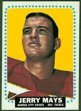 Jerry Mays 1964 Topps football card