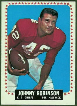 Johnny Robinson 1964 Topps football card