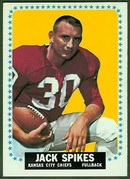 Jack Spikes 1964 Topps football card