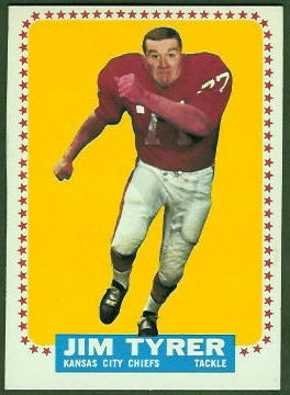 Jim Tyrer 1964 Topps football card