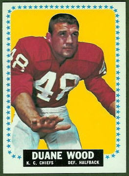Duane Wood 1964 Topps football card