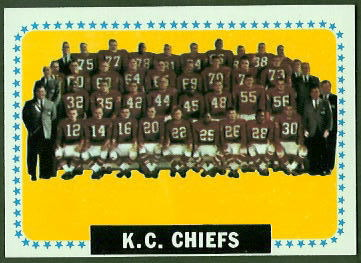 Kansas City Chiefs Team 1964 Topps football card