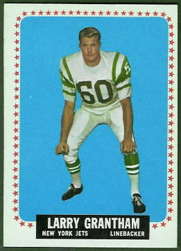 Larry Grantham 1964 Topps football card