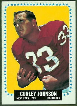 Curley Johnson 1964 Topps football card