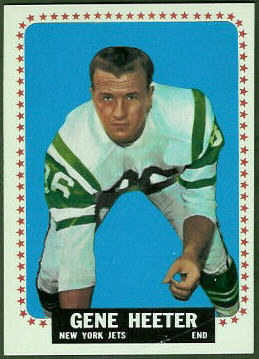 Gene Heeter 1964 Topps football card
