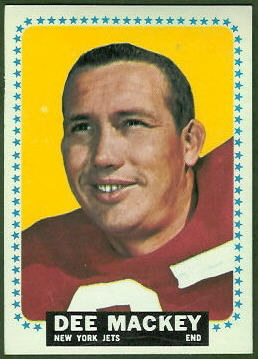 Dee Mackey 1964 Topps football card