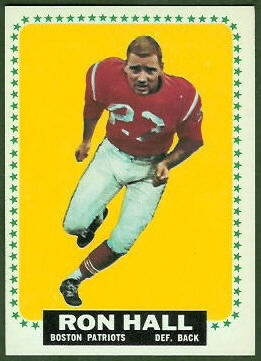 Ron Hall 1964 Topps football card