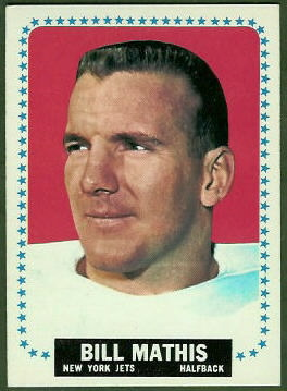Bill Mathis 1964 Topps football card