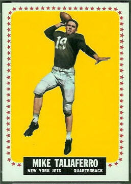 Mike Taliaferro 1964 Topps football card