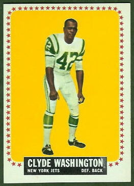 Clyde Washington 1964 Topps football card