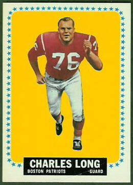Charles Long 1964 Topps football card