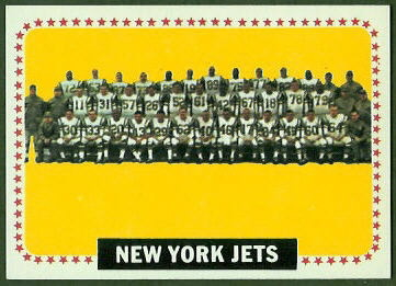 New York Jets Team 1964 Topps football card