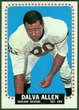 Dalva Allen 1964 Topps football card