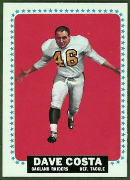 Dave Costa 1964 Topps football card