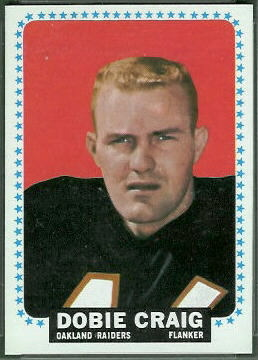Dobie Craig 1964 Topps football card