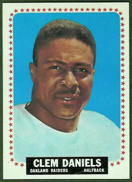 Clem Daniels 1964 Topps football card