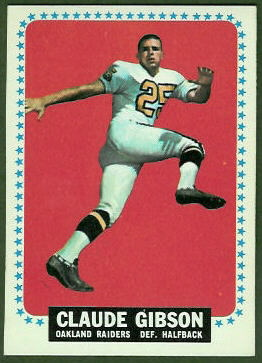 Claude Gibson 1964 Topps football card