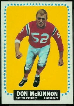 Don McKinnon 1964 Topps football card