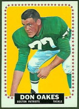 Don Oakes 1964 Topps football card