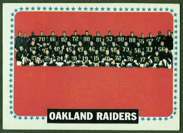 Oakland Raiders Team 1964 Topps football card